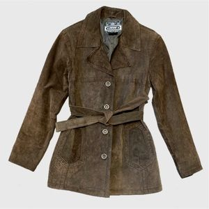 Urban Vibe Chocolate Suede Leather Jacket sz S